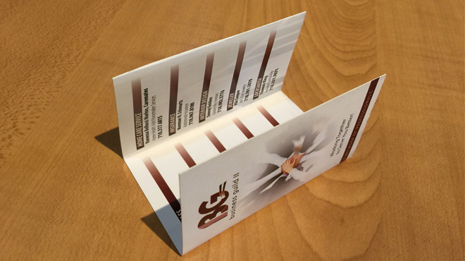 Awesome Trifolded Business Cards Printing - Tri fold business card template