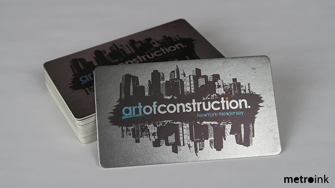 Full color business card printing on cold foil cold foil silk 28pt reheart Image collections