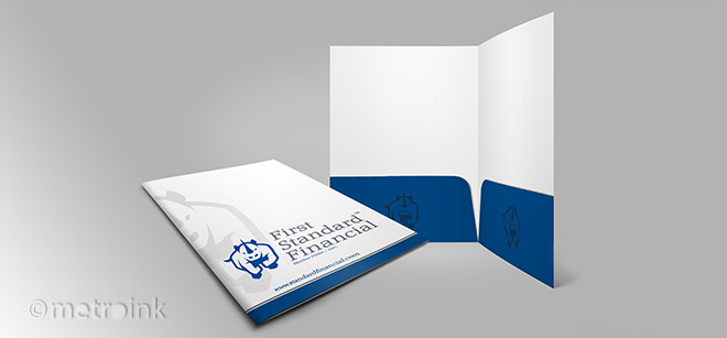 9x12 standard full color presentation folders